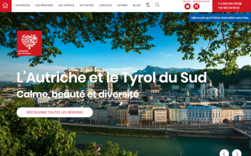 Die Website von Autriche pro France